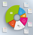 Abstract round info graphic template vector image vector image