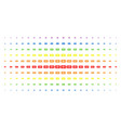 banknote spectral halftone pattern vector image