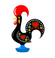barcelos portuguese rooster vector image