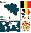Belgium map world vector image vector image