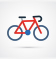 bicycle color cute icon vector image
