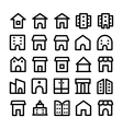 Buildings and Furniture Icons 10 vector image