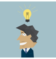 businessman with lamp idea concept vector image
