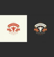 butcher shop logo cow head vector image