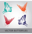 butterfly icons eps10 vector image vector image