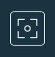 capture icon line symbol premium quality isolated vector image vector image