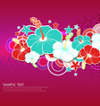 Card with hibiscus flowers vector image