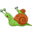 cartoon mother snail and her baby vector image vector image