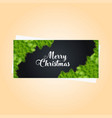 christmas banner with elegant decoration vector image vector image