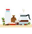coffee types flat popular vector image vector image