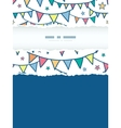 Colorful doodle bunting flags vertical torn frame vector image