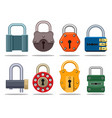 colorful lock set vector image
