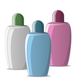 cosmetic bottles vector image