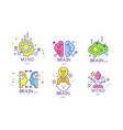 creative brain mind energy original logo design vector image vector image