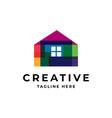 creative house icon logo vector image
