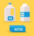 dairy milk butter flat design modern vector image vector image