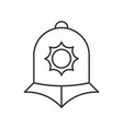 england police helmet police related outline icon vector image
