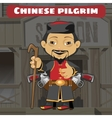 Fictional cartoon character - chinese pilgrim vector image vector image