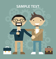 Flat design Partnership concept Handshake vector image