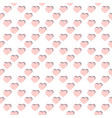 flat pink hearts seamless pattern valentines day vector image