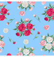 Floral Seamless Pattern Peonies Background vector image vector image