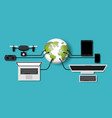 futuristic technology gadget set icons vector image vector image