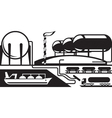 Gas tank terminal vector image vector image