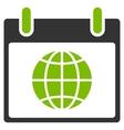 Globe Calendar Day Flat Icon vector image vector image