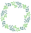 green leaves frame design vector image