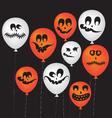 halloween ghost balloons vector image vector image