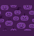 halloween seamless pattern pumpkins with scary vector image vector image