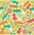 hand drawn candies canes and marshmallows vector image