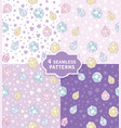 hand drawn seamless pattern with cute magic vector image