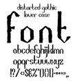 Handwritten black distorted gothic lower case vector image vector image
