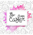 happy easter greeting card easter frame vector image vector image