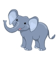 Happy elephant isolated on white vector image vector image