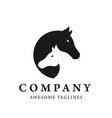 horses head profile graphic logo vector image vector image