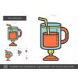 hot wine line icon vector image