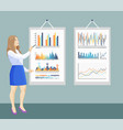 infographic and flowcharts on board presentation vector image vector image