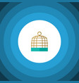 isolated birdcage flat icon bird prison vector image