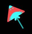 kite icon vector image vector image
