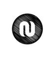 letter n symbol vector image