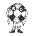 life buoy cartoon character sketch vector image vector image