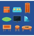 Living Room Furniture Set vector image vector image