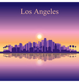 Los Angeles city skyline silhouette background vector image vector image