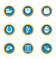 magic style icons set flat style vector image vector image