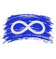 metis flag blue flag in grunge brush stroke vector image vector image