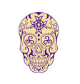 mexican skull with triskele and celtic cross vector image vector image