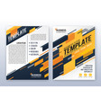 modern business annual report template vector image