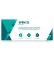 modern green design business banner image vector image vector image
